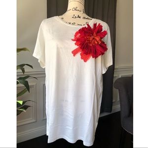 Lanvin for H&M  limited edition red flower tee xl